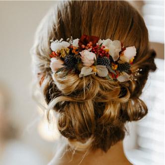 Fleuriste Lyon - Peigne en fleurs séchées