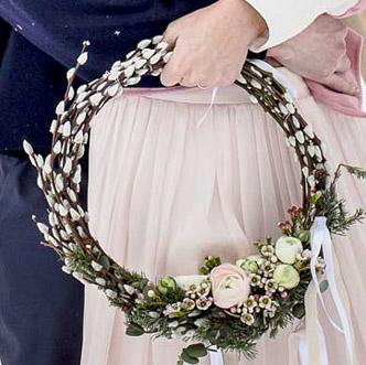 Fleuriste Lyon - Cerceau végétal mariage