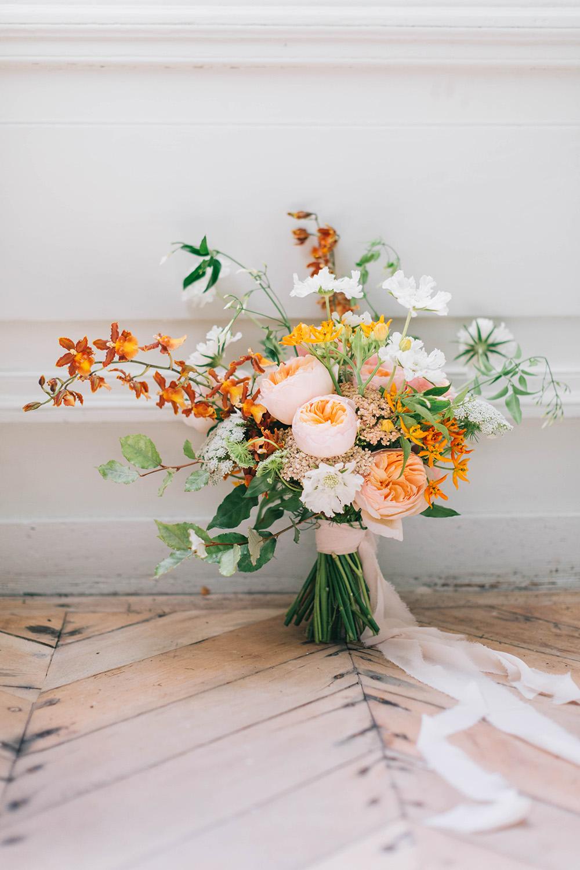 Fleuriste Lyon- Bouquet de mariée coloré