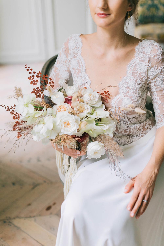 Fleuriste Miss Acacia - Bouquet de mariée avec roses et orchidées