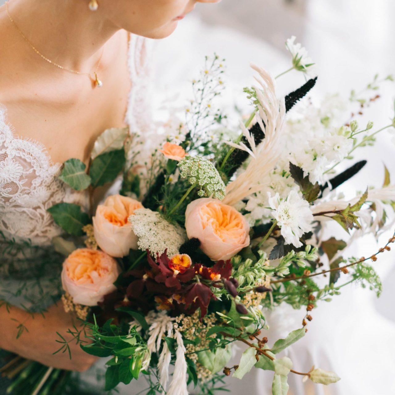 fleuriste - bouquet de mariée champêtre