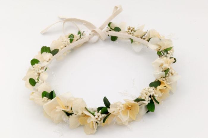 Miss Acacia - Couronne en fleurs séchées pour un mariage