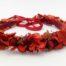 Miss Acacia - Couronne Red Velvet en fleurs séchées rouges